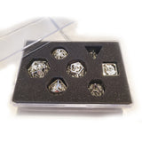 Metal Silver Plated Dragon Cage Dice Set