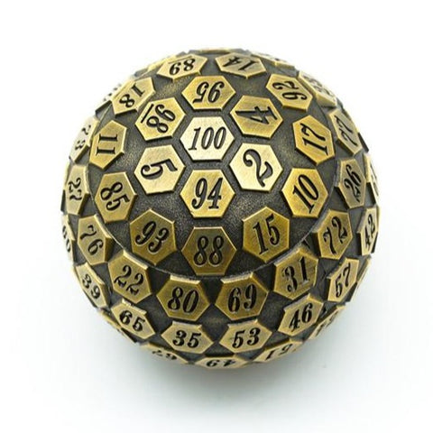Antique Golden Plated Metal D100