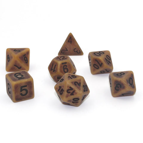 Ancient Gold Polymer Dice Set