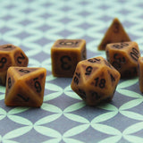 Antique Brown-Gold Polymer Dice Set