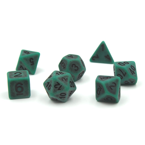 Ancient Green Polymer Dice Set