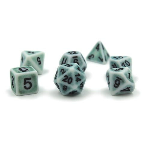 Ancient White Polymer Dice Set