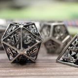 d20 from Dice Dungeons Antique silver dice