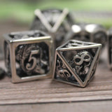 d6 and d6 from Dice Dungeons sterling silver dice set