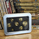Brass cage dice with box