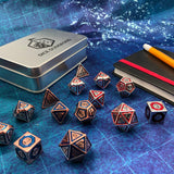 Metal BullsEye Dice for D&D. Both Styles.