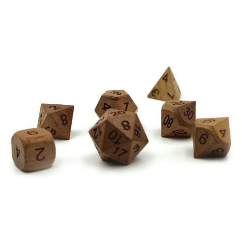Cherry Wooden Dice Set