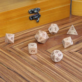 Cherry Wooden Dice Set for Dungeons and Dragons