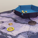 Cave map on table, part of our map 6 pack.