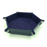 Purple Folding Pentagonal Dice Tray & Holder