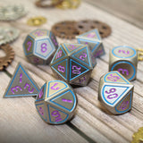 digital font metal dice
