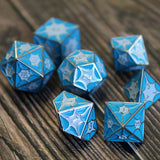 Blue dragon inspired dice.