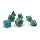 Glow in the dark dragon scale dice set