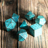 Metal DragonScale Faerie Dragon Dice Set with Display Box