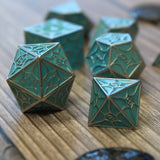 Glow in the dark dragon dice - d20 and d8