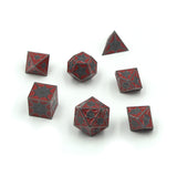Red dragon inspired dice set