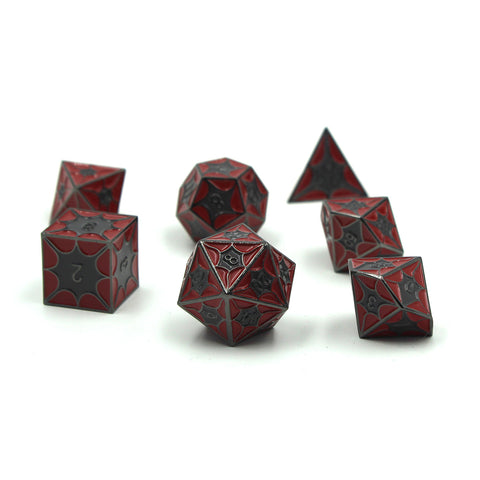Metal DragonScale Red Dragon Dice Set