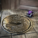 Fire Breathing Dragon Coin on Dungeon Tiles