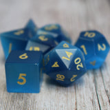 blue gemstone dice sets