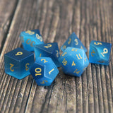 Blue Cats Eye Dice Set.