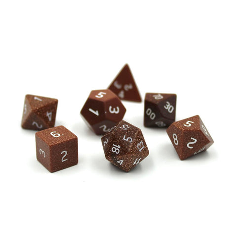 Gemstone Gold Sandstone Dice Set
