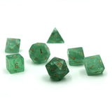 Gemstone Green Fluorite Dice Set