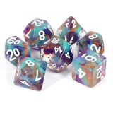 Unknown Land Ribbon Polymer Dice Set
