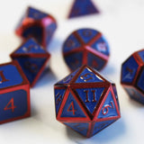 Metal Imperial Hero Blue Red Dice Set with Display Box