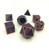 Metal Hero Blue & Red Dice Set