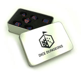 Metal Blue & Red Dice Set with Box