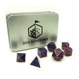 Metal Hero Blue & Red Dice Set with Box