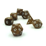 Zebra Wood Dice Set