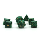Gemstone Malachite Dice Set
