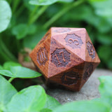 Steampunk Wooden Jumbo D20 Rose Wood outside
