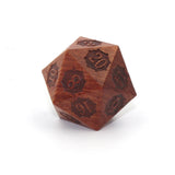 Wooden Jumbo 33mm D20 Rose Wood with Gear