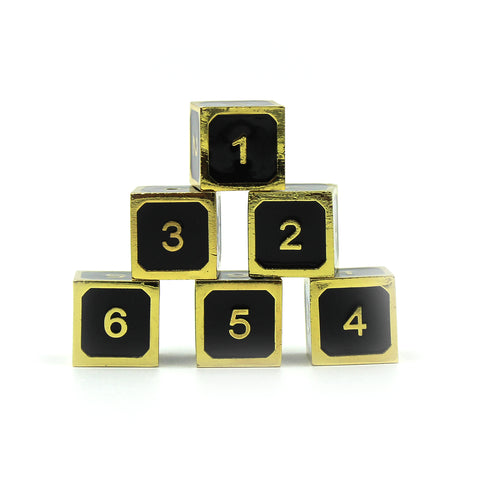 Metal Imperial Black and Gold 6d6 Set