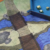 Cloth RPG Battle Map - Crossing at Twin Bridges