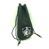 Leather Pouch Coin Dice Bag Black Closed