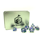 Metal Tri-Color Imperial Twilight Dice Set with Display Box