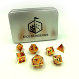 Metal three color dice with display box