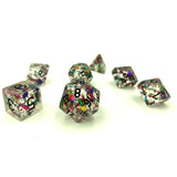 Birthday Confetti D&D Mardi Gras Dice Set