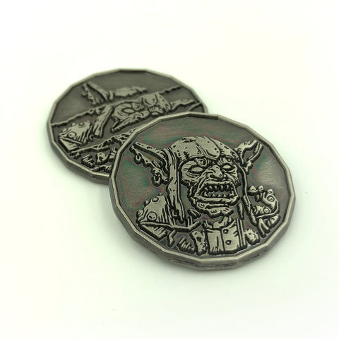 Goblin Monster Coin Miniature - Front and Back
