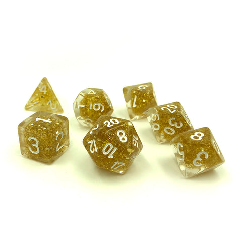 Gold Embedded Dice Set