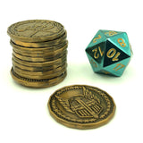 D&D Class Token Set - Gold with d20
