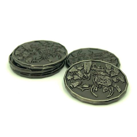 Spider Monster Coin Token Pack of 5