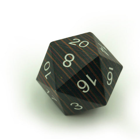Wooden Jumbo 33mm D20 Dark Rainbow