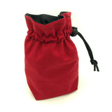 Red Fabric Dice Holder Bag