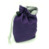 Purple and Silver Fabric Dice Holder Bag
