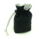 Black Fabric Dice Holder Bag