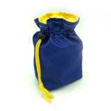 Blue and Yellow Fabric Dice Holder Bag